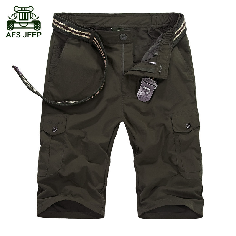 CLOTHES Summer New Quick-drying Shorts Men Breathable Men Shorts Army Color Short Homme Fashion Casual All Match Mens Shorts