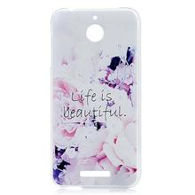 For HTC desire 510 Phone Case Transparent Clear Colorful Painted Ultra Thin Hard PC Plastic Cover