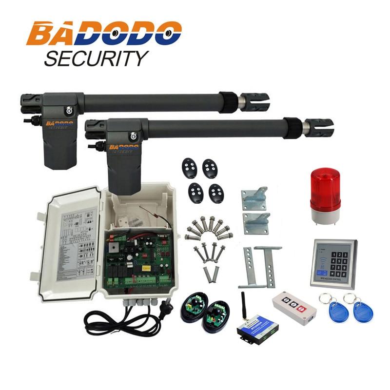 Двойной 400KGS 220 В в GMS качели ворот линейные приводы двойной рычаг с дополнительным как фотоэлемент, лампа, Проводная клавиатура, детектор пет...