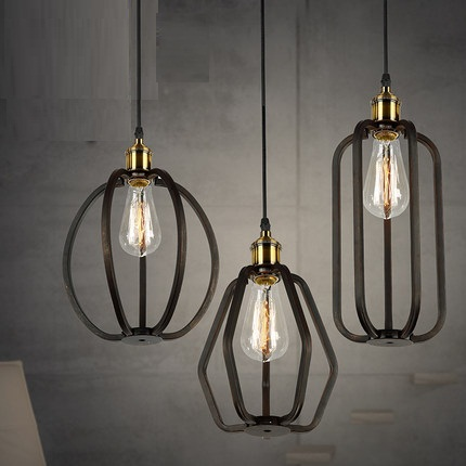 Amercian Loft Style Iron Vintage Pendant Light Fixtures RH Edison Industrial Lighting Fixture For Home Indoor DropLight vintage loft industrial edison flower glass ceiling lamp droplight pendant hotel hallway store club cafe beside coffee shop