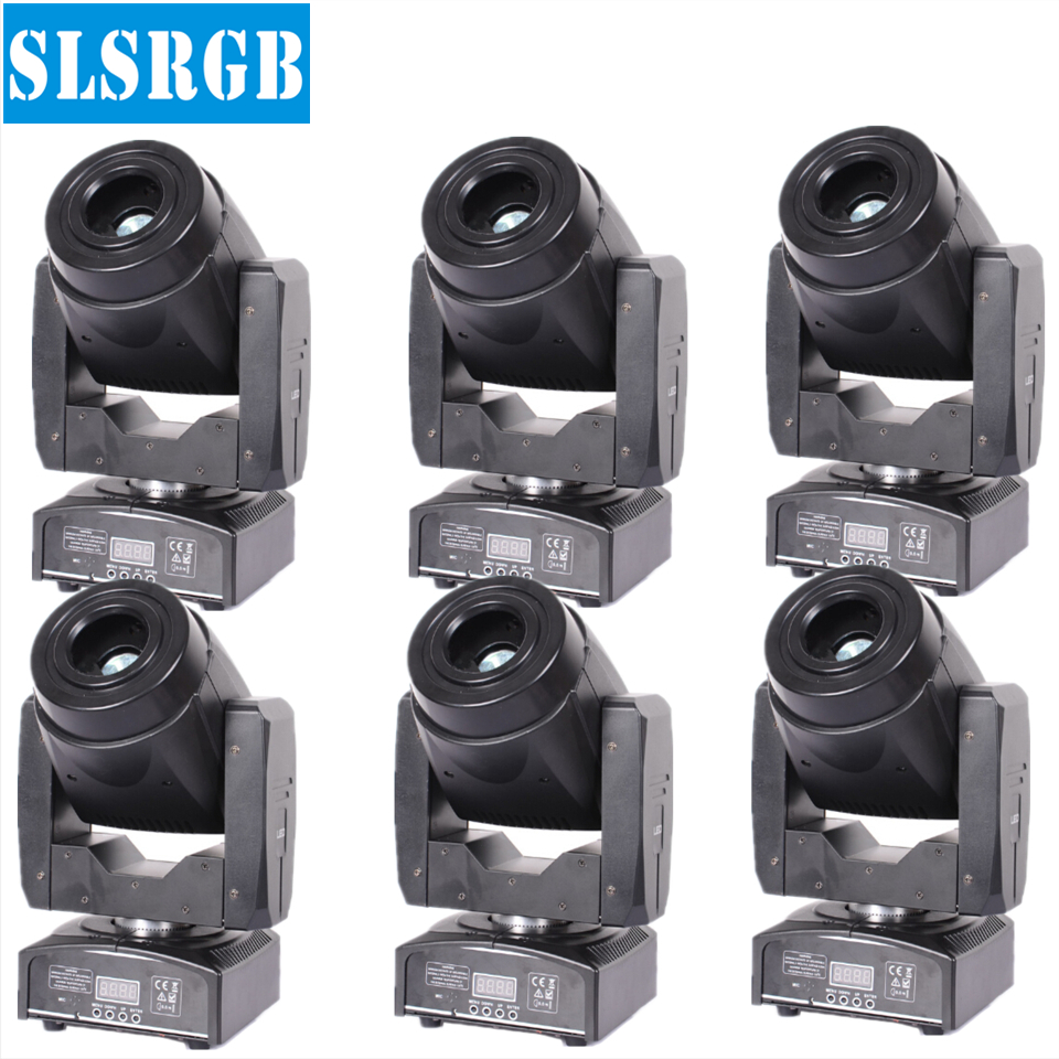 6pcs/lot Disco Bar 3 prism double gobo wheel small moving lights led spot 60w 3-facet prism gobo lights 60w spot moving lights
