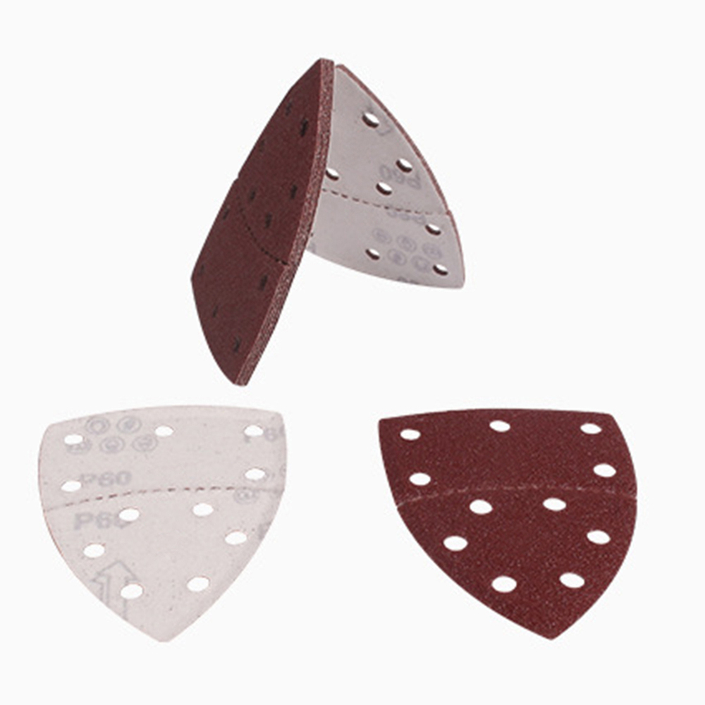 60pcs 150 150 105 Triangle Sandpaper 11 Holes Sanding Sheets Assorted 40 60 80 120 180 240 Grits Mouse Sander Pads in Abrasive Tools from Tools