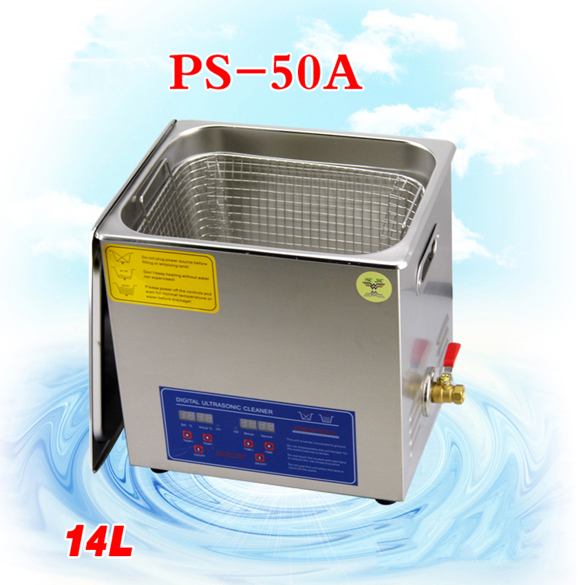 1PC110V/220V PS-50A 400W14L Ultrasonic cleaning machines circuit board parts laboratory cleaner/electronic products etc
