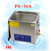 1PC110V/220V PS 50A 400W14L Ultrasonic cleaning machines circuit board parts laboratory cleaner/electronic products etc