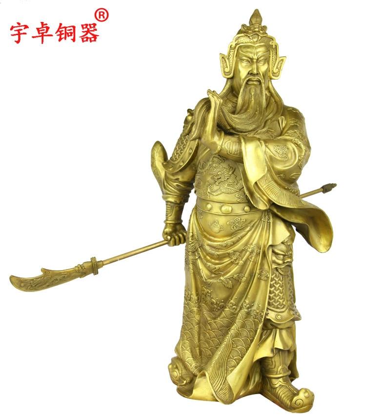 Yu Zhuo bronze copper business gifts crafts decoration Fortuna Wu font b knife b font 48