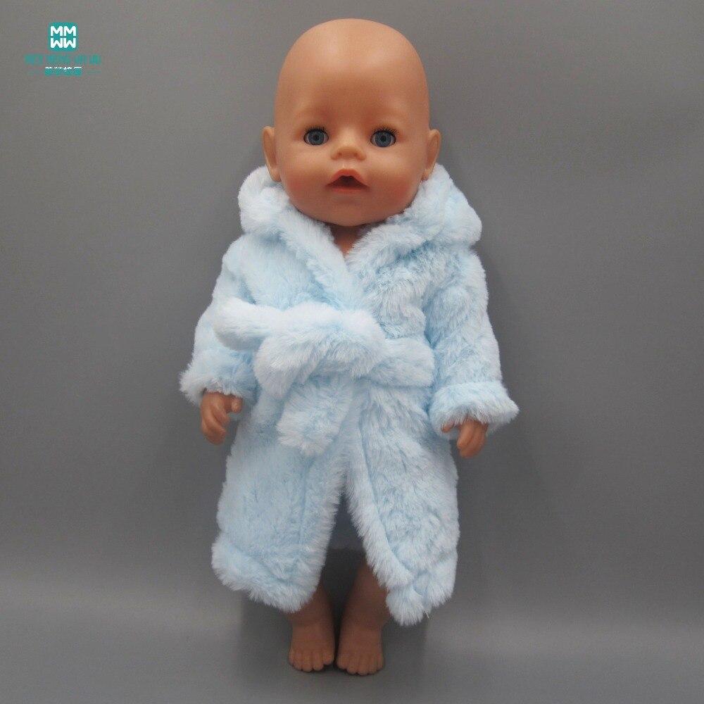 Passar 43cm Baby Född Zapf Doll Kläder Klänning Mode Sky Blue plus sammet pyjamas