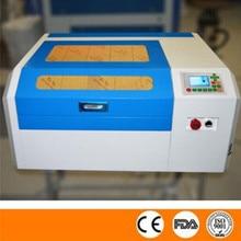 Free shipping 4040 co2 laser engraving machine off-line control panel diy mini 50w laser cutting machine Coreldraw support