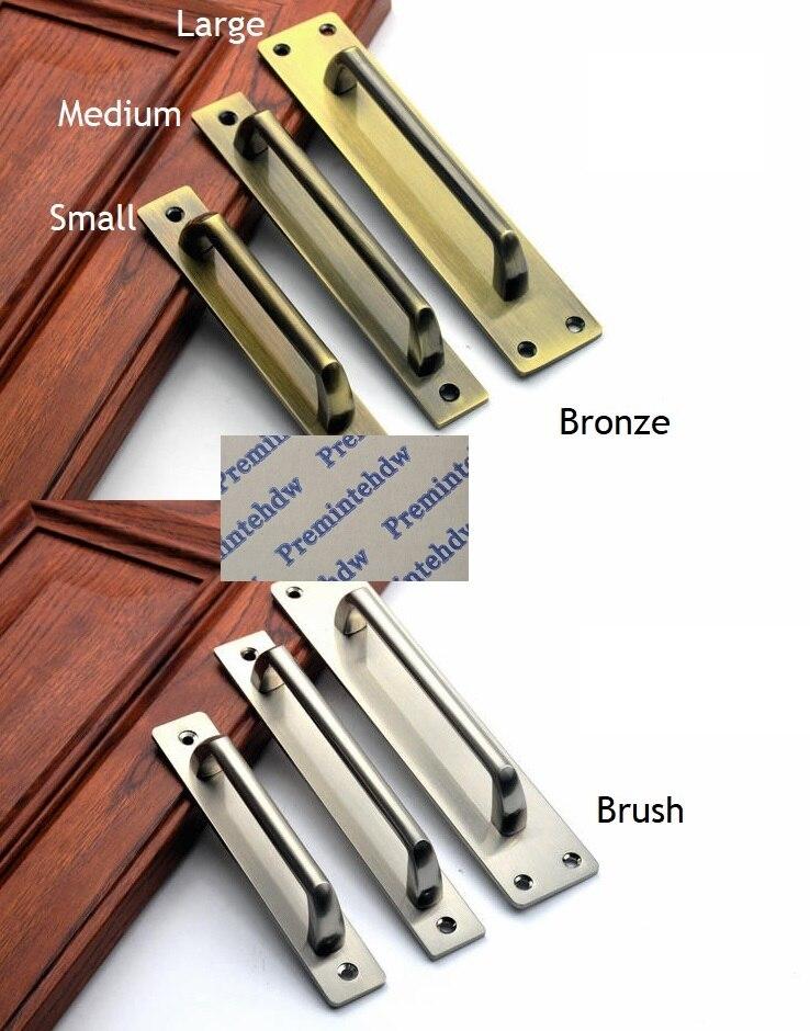 Face Mount Door Pull Push Plate Handle Bronze Brush Fire-proof doorFace Mount Door Pull Push Plate Handle Bronze Brush Fire-proof door