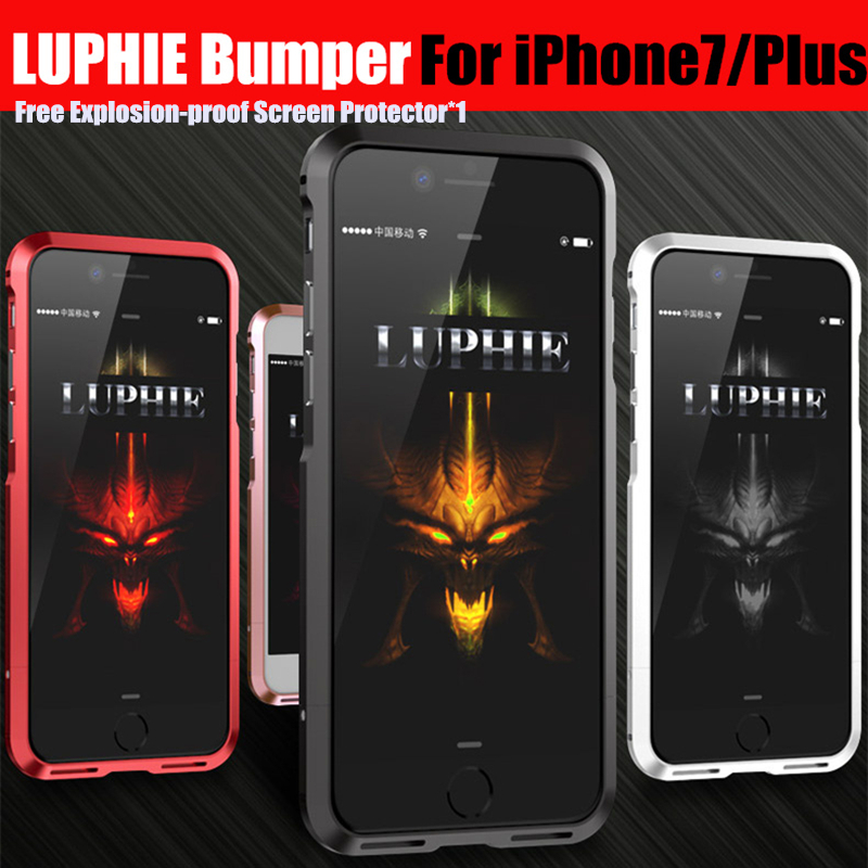 bumper for iphone 7 metal frame case luxury Aluminum Metal Bumper For iPhone 7 plus Prismatic