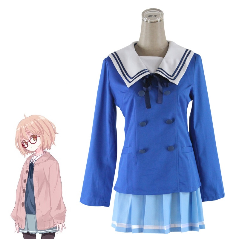 Japanese Anime Kyokai No Kanata Cosplay Beyond The Boundary Kuriyama Mirai Cosplay Costume Women Girls School Uniforms Sweater