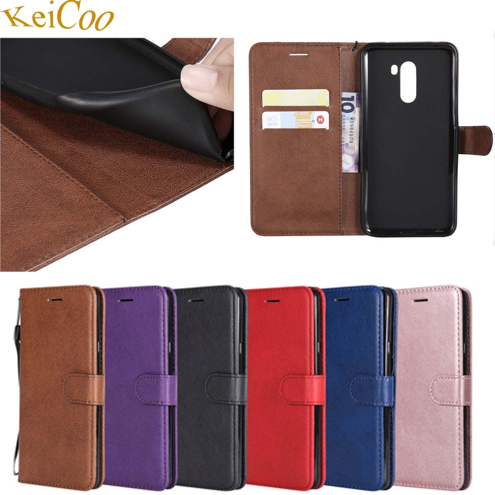 PU Leather Covers On For <font><b>Xiaomi</b></font> <font><b>Pocophone</b></font> Poco <font><b>F1</b></font> 64GB <font><b>128GB</b></font> 256GB Case Magnet Wallet Bag Cover For <font><b>Pocophone</b></font> <font><b>F1</b></font> Book Flip Cases image