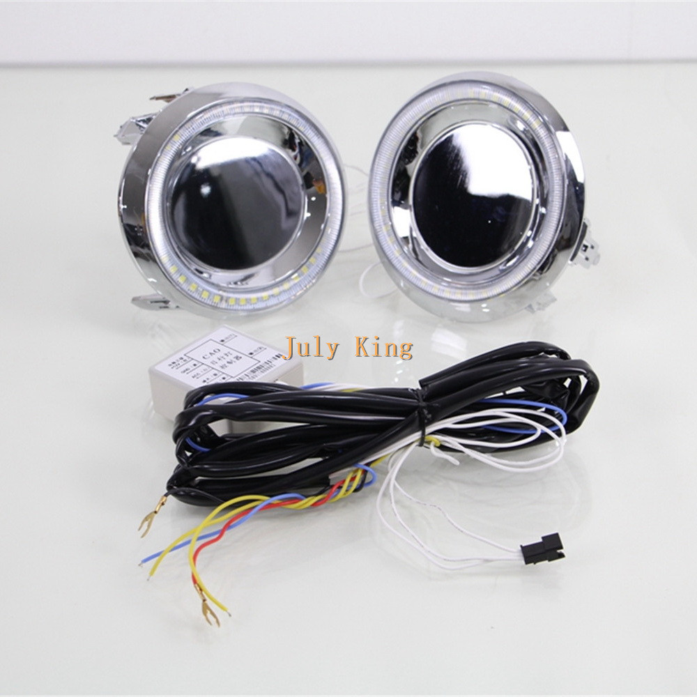 July King LED Daytime Running Lights With Yellow Turn Signals case for Toyota Land Cruiser Prado 2700/4000 FJ150 LC150 2014~15 july king led daytime running lights with yellow turn signals case for toyota land cruiser prado 2700 4000 fj150 lc150 2014 15