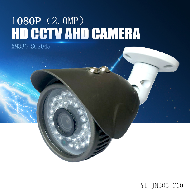 YiiSPO AHD 1080P bullet Camera 2.0MP analog Camera outdoor waterproof IR-cut XM320+SC2235 CCTV security camera AHD metal 60# 2017 newest security ahd 1080p 2 0mp waterproof ir metal cctv bullet camera system cheap product