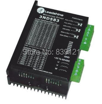 Free ship for leadshine original 3ND583 3-phase microstepping Drive work 36-50 VDC out 2.1A to 8.3A for NEMA 23 stepper motor