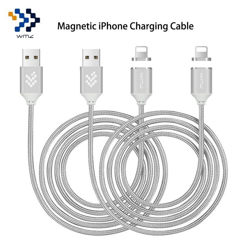 imágenes para 2 Pack USB Magnética Cable Trenzado para Magnectic Relámpago USB Cable de Datos de carga Del Cargador Del Cable para el iphone 6 6 s 7 Plus 5S 5c 5