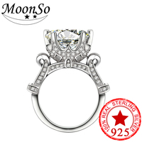 Wholesale 925 Sterling Silver Fashionable Rings For Women AAA Grade Princess Cut CZ Diamond Rings Luxury