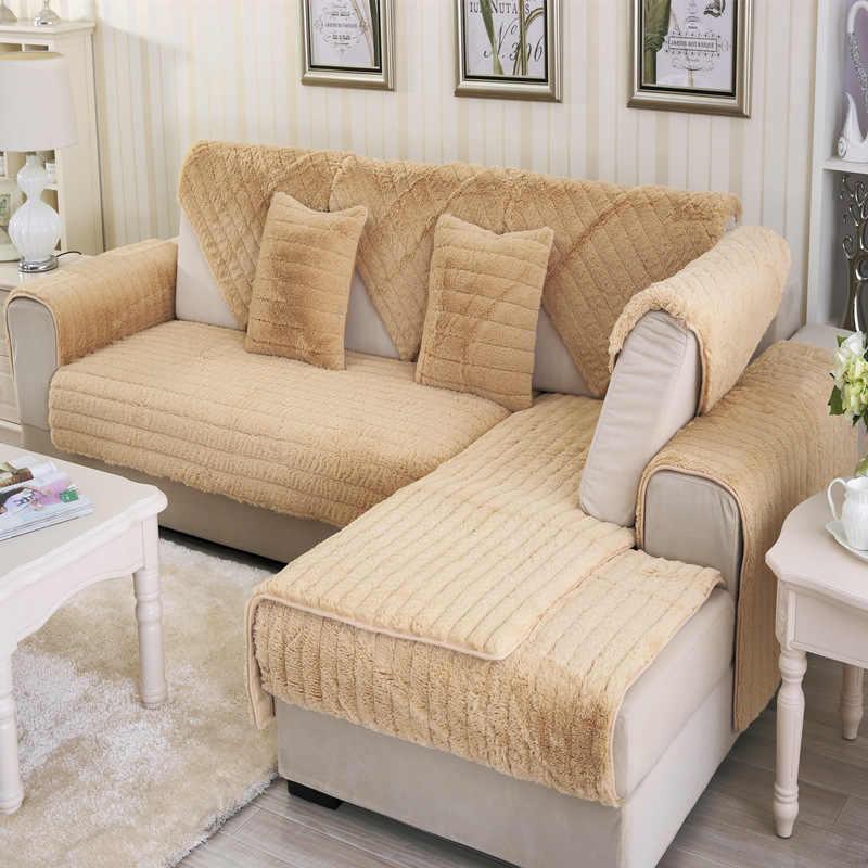 Sofa Cover Towel Soft Fluffy Slipcover