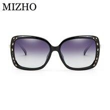 MIZHO marca diseñador 28G HD protección UV gafas cuadrado Vintage Polarized  gafas de sol mujer 2018 UV400 plástico gafas de sol . 4618ee0e262d