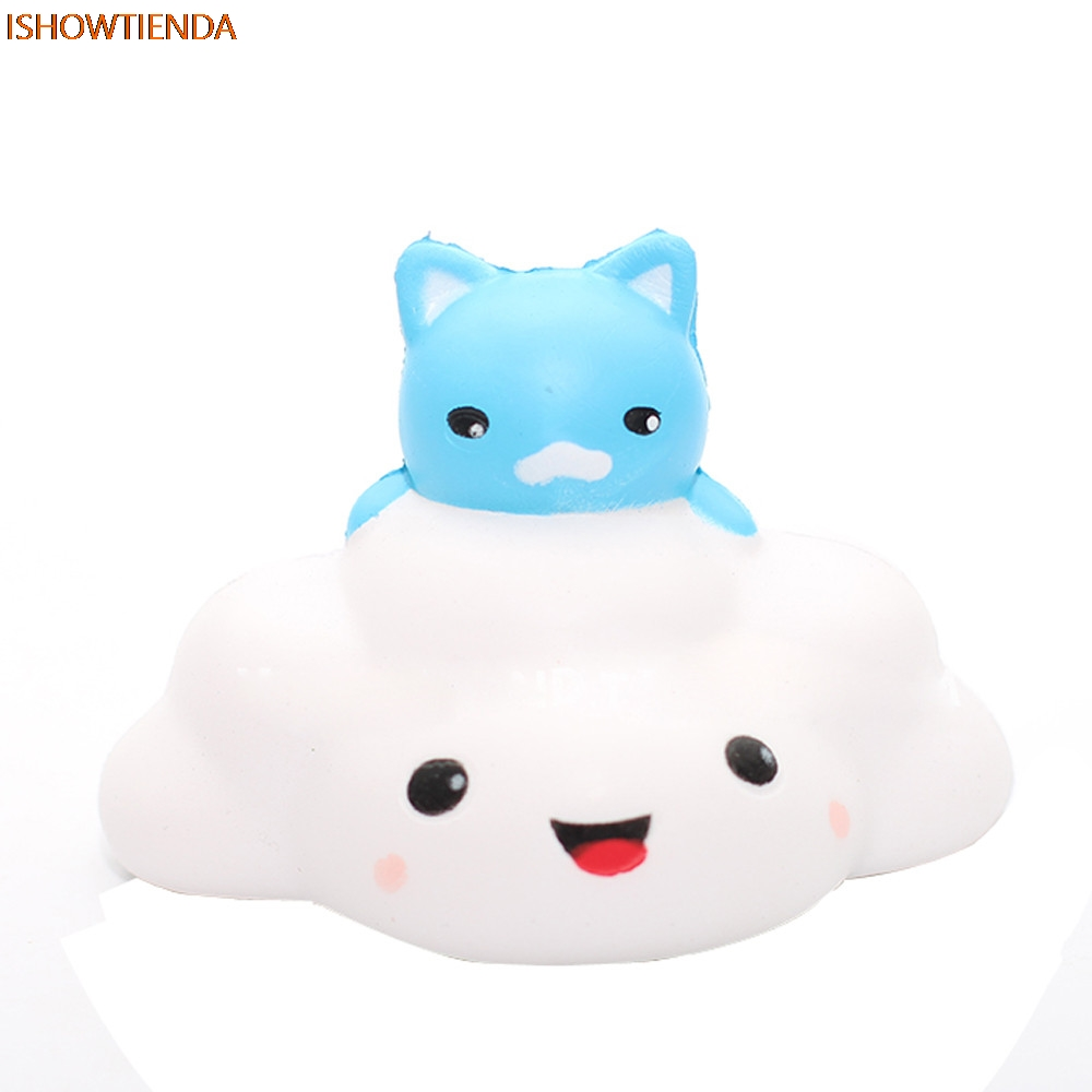 Mobile Phone Accessories 4pcs Mini Cloud Soft Squeeze Press Slow Rising Phone Charms Strap Bread Cake Kid Toy Hobbie Gift Ushihito Kawaii Cute Squishy Mobile Phone Straps