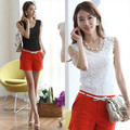 Summer Cosy Fashhion Women Lace Floral Camisole Top Strap Solid Tank Vest Tank Tops Blouse Elegant Shirt