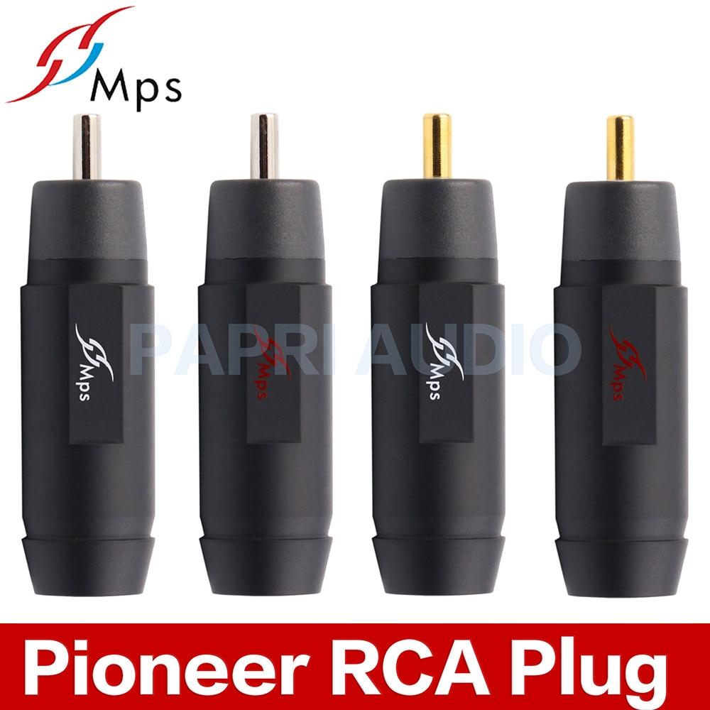 Connecteur MPS Pioneer 8G/10G/8R/10R prise de réparation HiFi RCA prise Audio fiches plaqué or rhodié pour câble 8 MM/10 MM-in Amplificateur from Electronique    1