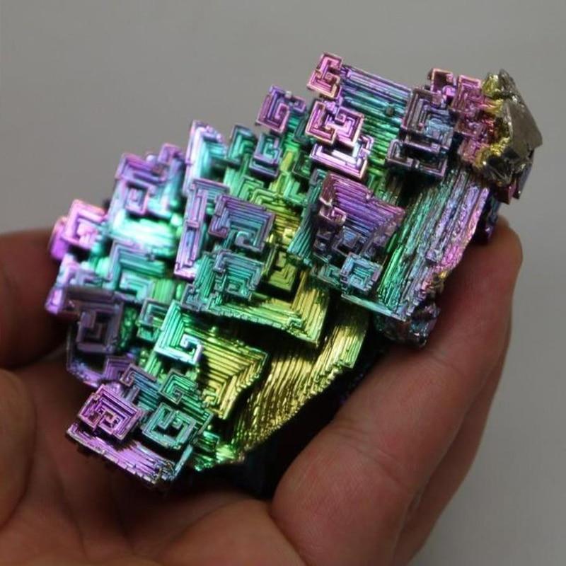 OOTDTY Rainbow Bismuth Crystals 20g50g Metal Mineral Specimen