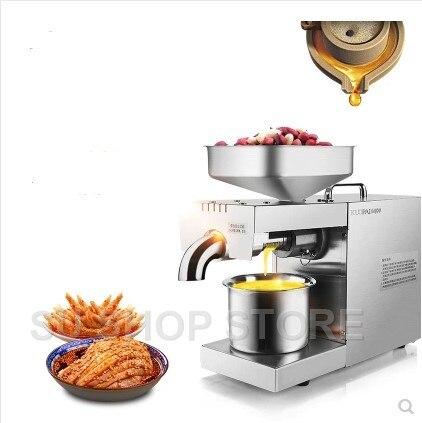 220 v/110 v Chaleur et Froid presse à huile d'accueil machine pinenut, cacao olive de soja presse à huile machine taux d'extraction d'huile élevée