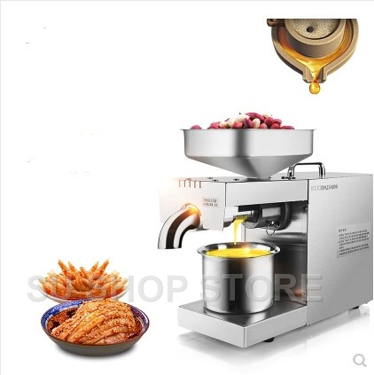 220V/110V Heat and Cold home oil press machine pinenut, olive oil press machine high oil extraction rate