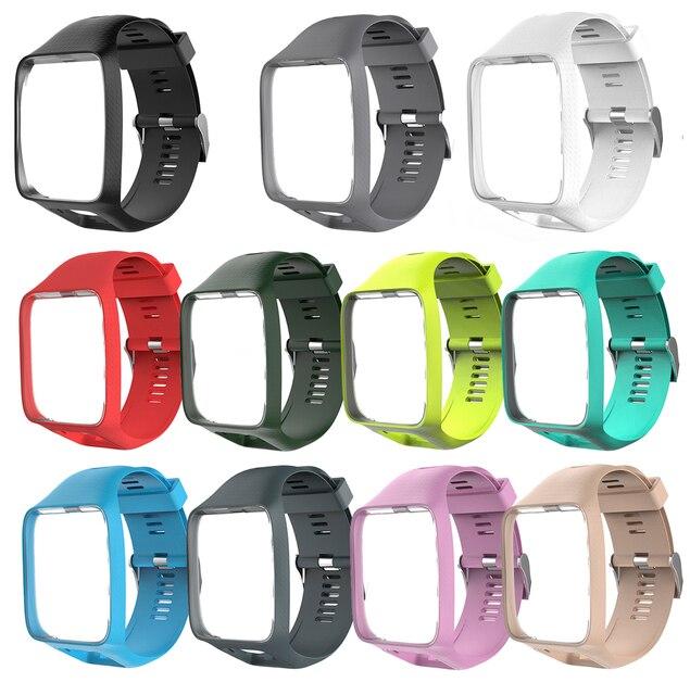 Wrist Band Strap voor TomTom 2 3 Runner Vonk Muziek Vervanging Armband Zachte Horlogeband Siliconen Riem Horloge Armband Accessoire