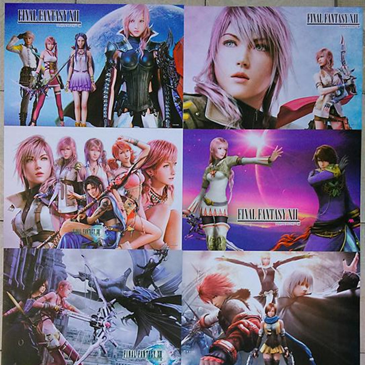 8 pcs/set Game Final Fantasy poster Claud / Tifa / Aerith Anime posters for walls 42x29cm free shipping