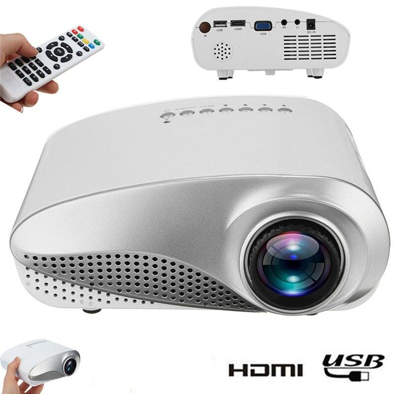 Nouveau clair Mini Portable 1080P 3D HD projecteur LED multimédia Home cinéma USB VGA HDMI TV Home cinéma système