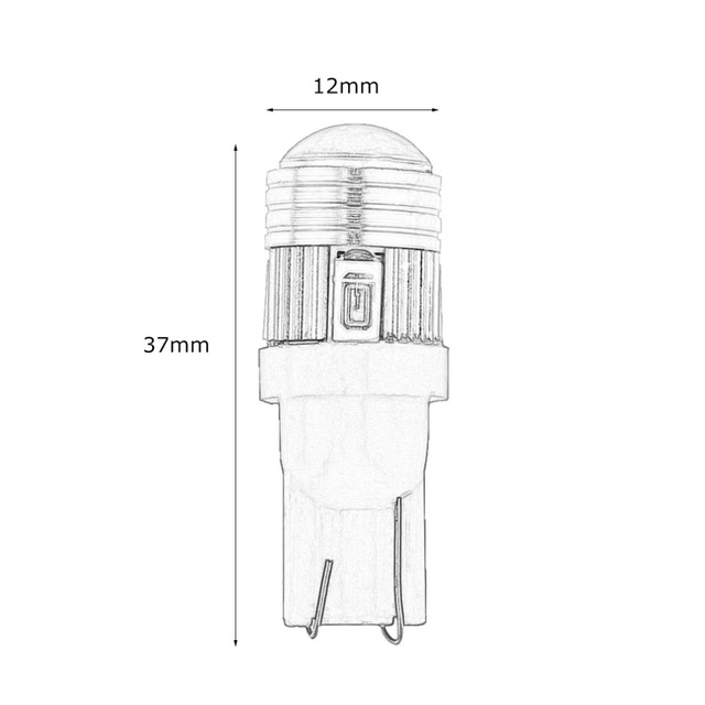icoco 2 stks t10 5630 6smd hittebestendige gehard glas led sterke knipperlicht auto breedte lamp