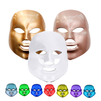 Raiuleko 7 colors LED Facial Mask face mask machine Photon Therapy Light Skin Rejuvenation Facial PDT Skin Care beauty Mask