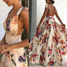 Длинное пляжное платье макси для вечерние