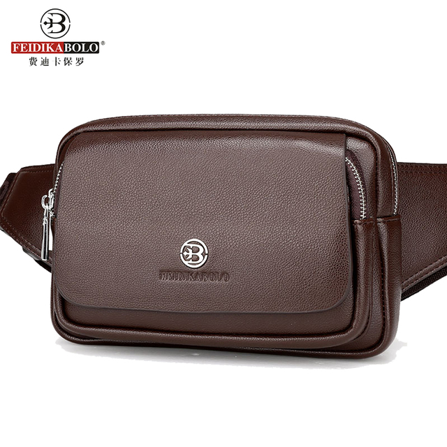 2016 Men Travel Bags Mens Leather Belt Bag Waist Pack Men Waist Bag Fanny Pack Leather Waist Pochetes Homem Bolso Cintura