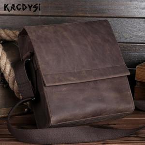 KACDYSI Crazy Horse Leather Small Men Shoulder Bag For a5b5a64f7c