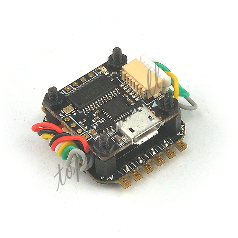 Teeny1S F3 Flight Controller with Built-in Betaflight OSD + 4 In 1 6A BLHeli_S ESC for 60mm-80mm Mini FPV Quadcopter Drone betaflight omnibus f4 flight controller built in osd power supply module bec for fpv quadcopter drone accessories fpv aerial pho