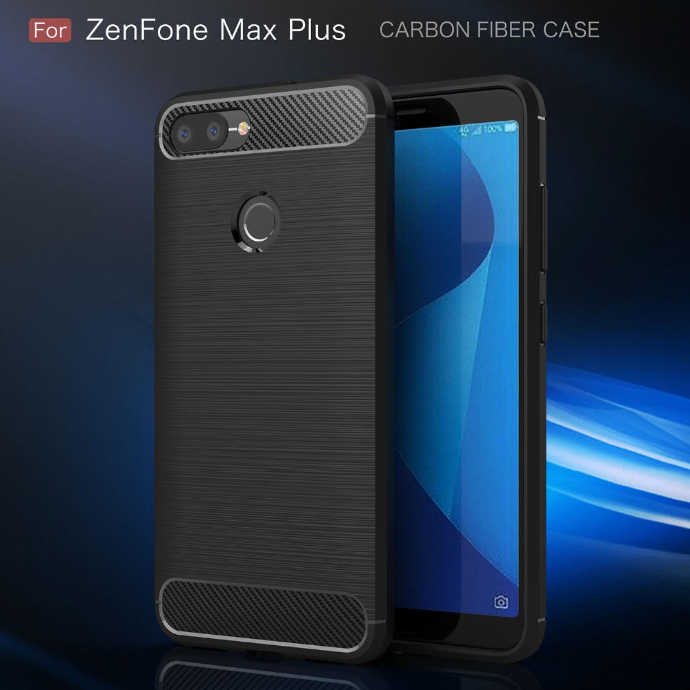 cover for asus zenfone max plus m1 case soft carbon fiber case for asus zenfone max plus m1. Black Bedroom Furniture Sets. Home Design Ideas
