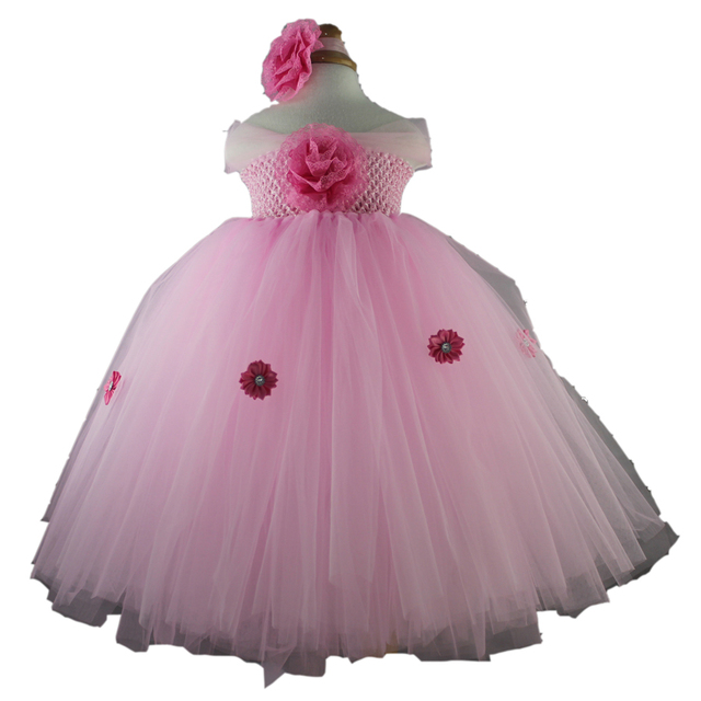 70bccc3577024 2016 Fashion Tutu Baby Girl Princess 1 Year Birthday Dress White Pink Tulle Little  Girls Dresses For Party Baby Frock Designs