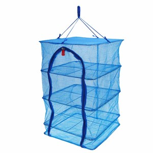 Image 4 - 40 x 40 x 65cm 4 Layers Fish Drying Net Durable Drying Rack Folding Hanging Vegetable Fish Dishes Dry Rack PE Hanger