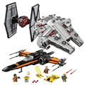 Legoings Star Wars Building Kit Millennium Falcon Poe's X Wing Fighter Building Blocks Bricks Toys Compatible 75101 75149 75102
