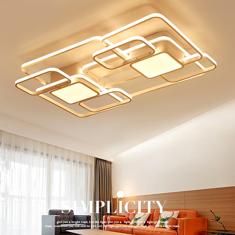 LICAN Chandelier Light Modern Bedroom Living room AC85-265V lustre de plafond moderne Ceiling Chandelier luminaire plafonnier noosion modern led ceiling lamp for bedroom room black and white color with crystal plafon techo iluminacion lustre de plafond