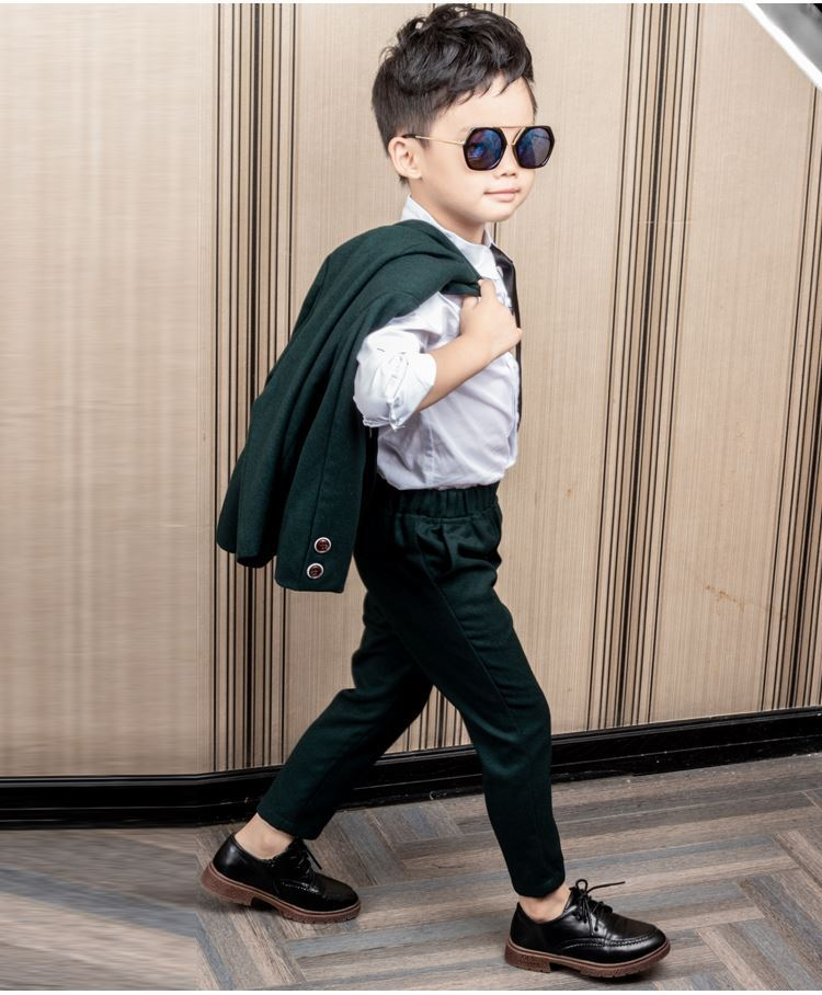 Boys Formal Suits For Weddings England Style  Child boys Party Tuxedos suit sets Boys Formal Suits Blazer+Pants 2-12Y