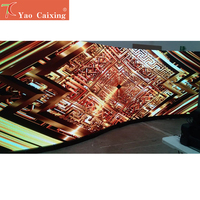 Curve cabinet screen P4.81 rgb indoor smd full color 500*1000mm die casting aluminum screen led display dot matrix display