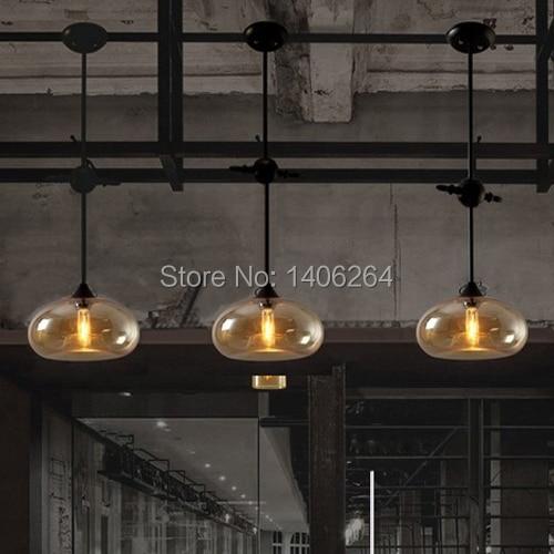 ФОТО Loft Buffet Restaurant Edison Vintage Nordic American Glass Ceiling Lamp Dining Room Bedroom Stalactites Droplight For Cafe Bar