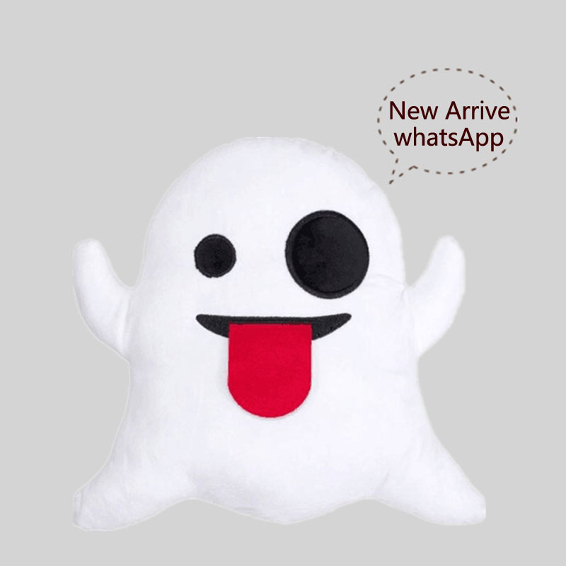 Dog Puppy Emoji Pillow Emoticon Cushion Plush Soft Toy Doll Smiley