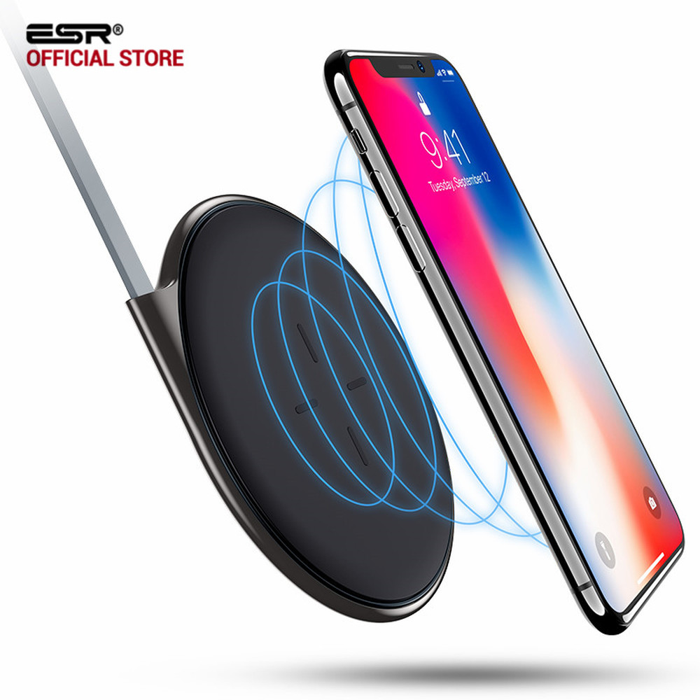 Iphone Cordless Charger Us 16 46 39 Off Wireless Charger Esr Ultra Slim Qi Wireless Charging Pad Zinc Alloy Frame Fast Charger For Iphone X 8 Plus For Samsung S8 S7 In