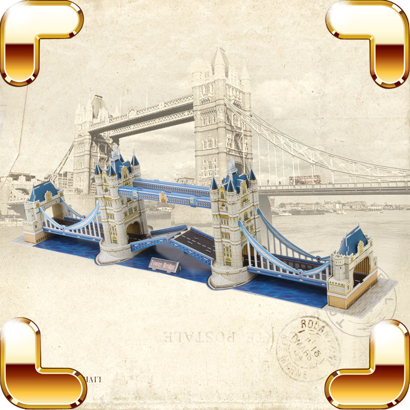 New Year Gift London Bridge 3D Puzzles Large Model Building Educational Toys Puzzles DIY Game Children Family Handmade Present подвесной унитаз ifo grandy rp213100200