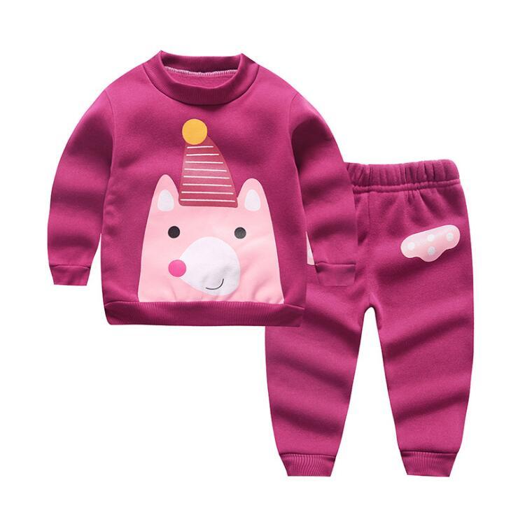 f597a43d9413 Infant Girls Cartoon Hello Kitty Cat Children Warm Woolen Clothing ...