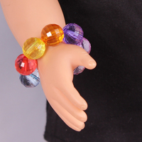 Doll Accessories ,Mixed Colors Crystal Beads Bracelet Fit 18 inch American girl doll , Children Best Birthday Gift AS125